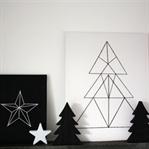 Monochrome Weihnachtsdeko easy selber machen