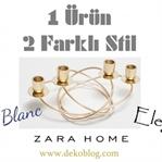 Zara Home - 1 Ürün 2 Farklı Stil