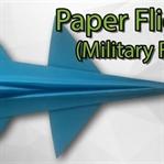 Origami F16 Uçak Yapımı