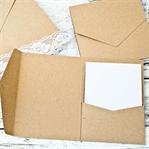 Pocketfold-Karten aus Kraftpapier