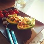 Somonlu Avokado Salatası