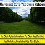 2016'da Yaz Okulu Açacak Üniversiteler