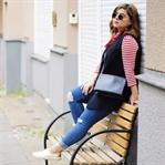 Red Stripes & Céline Trio Bag