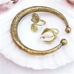 Ring mit Kauri Muschel ganz leicht selbermachen