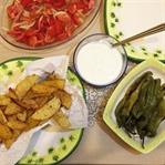 Sağlıklı Biber ve Patates Kızartması