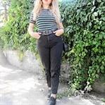 Siyah Mom Jeans