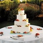 Meyvelerle Süslü Düğün Pastaları