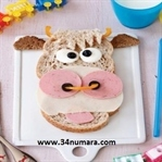 Çocuklar İçin Sevimli İnek Sandviç