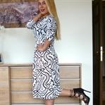 Damask Desenli Elbise