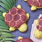 Matcha Schildkröten mit Schokoladen-Füllung