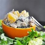 Portakal Çanağında Lahana Salatası Tarifi