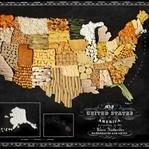 Ülkelerin Eğlenceli Gıda Haritaları