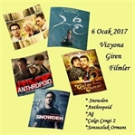 6 Ocak 2017 - Vizyona Giren Filmler