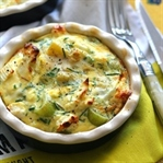 5 Dakikada Pırasalı Patatesli Omlet