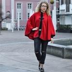 Outfit: Rotkäppchen trifft Netzstrumpfhose & Jeans