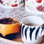 Portakalda Türk kahvesi