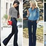 2018 İspanyol Paça Pantolon Modelleri