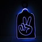 DIY Peace Leuchtschild
