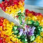 Gesunde Rainbow Pizza