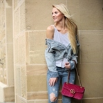 GUCCI MARMONTB BAG & DENIM OUTFIT