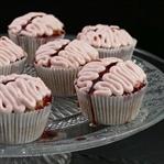 Halloween Bloody Brain Cupcakes (vegan)