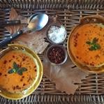 Közlenmiş Patlıcan ve Kırmızı Biber Çorbası