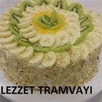 Krem Şantli Meyveli Pasta