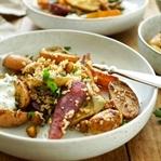 Marokkanisches Ofengemüse mit Kichererbsen