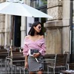 Outfit: Karo Rock & Off Shoulder Bluse