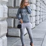 Outfit:Tüllrock und Statement Hoodie