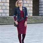 Outfit: Weinrotes Kleid & Platforms für den Herbst