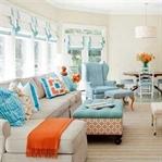 Renkli Salon Dekorasyonu Fikirleri