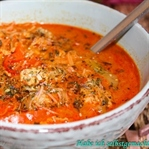 Thai Kokos Suppe mit Hühnchen