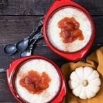 Türkischer Milchreis mit Kürbis-Pflaumen-Kompott