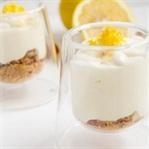 Zitronen Cheesecake im Glas