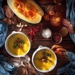 Balkabağı Çorbası Kanlıca mantarı İle