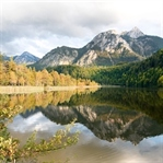 Lake Schwansee in the Bavarian Alps