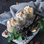 Mandelpudding mit Marshmallow und Zimt