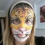 Mumuso kaplan desenli yüz maskesi