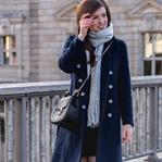 Baby, it's cold outside! | Blauer Wintermantel