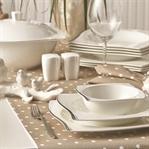 Beyaz Altın Yemek Takımı İle Daha Şık Sofralar