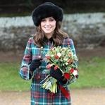 Kate Middleton: Miu Miu ekose manto