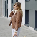 Outfit: Louis Vuitton Speedy&Brown Leather Jacket