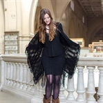 Fringe Cardigan and Cowboy Boots