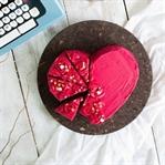 Herztorte für den Valentinstag