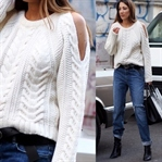 Key Piece: The Cut Out Shoulder Knit Sweater