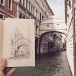 Mimarı Yapıları Çizimleri ile Tamamlayan Sanatçı