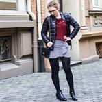 Outfit: Vichy-Karo, Volants & Karl Lagerfeld Jacke