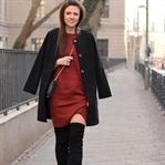 Pinterest made me love it | Braunes Strickkleid