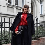 Roter Pullover mit Ballon-Ärmeln // Trend Piece